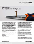 Richard Coda Design Whitepaper: File Formats: The Right Tool for the Right Job